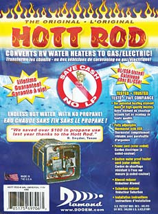 Converts Rv Water Heaters To Gas Electric